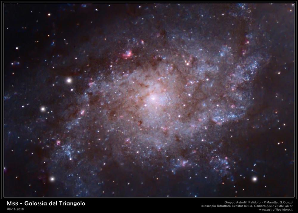 m33 Galassia Triangolo