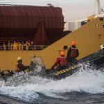 Sei attivisti di Greenpeace arrestati a bordo di una nave che trasporta olio di palma in Europa [FOTO]