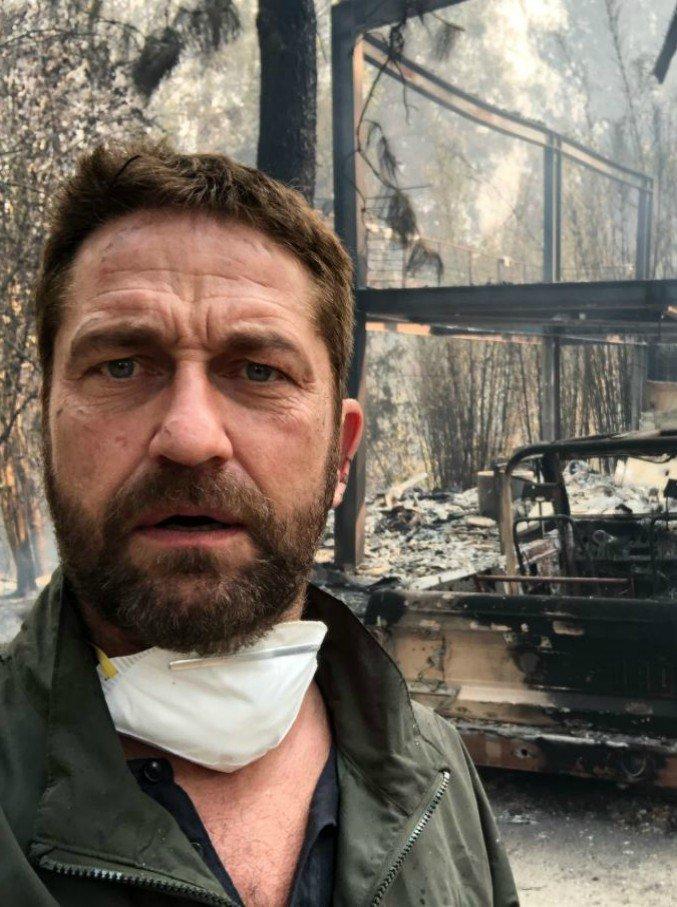 Gerald Butler incendi California