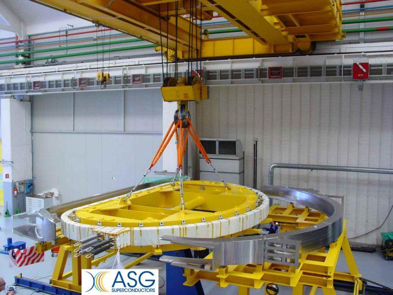 Inserimento dell'avvolgimento di bobina nella cassa di contenimento