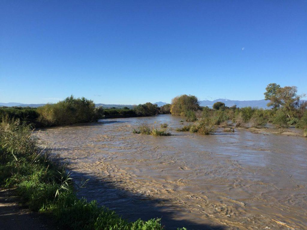 L'onda di piena del fiume Crati