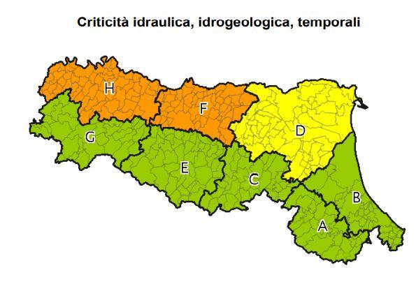 allerta meteo Emilia-Romagna
