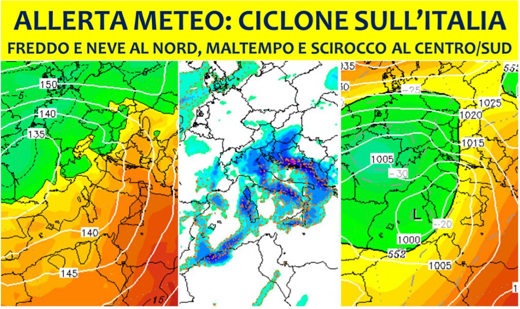 allerta meteo ciclone italia 20 novembre 2018