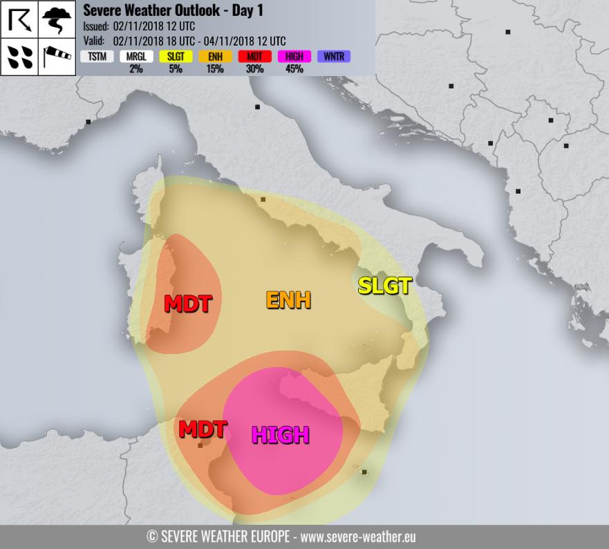 allerta meteo sud italia 2 4 ottobre