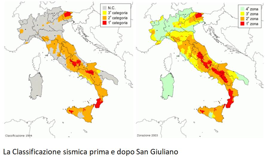 classificazione sismica italia