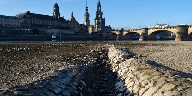 siccità germania fiume dresda 4 novembre 2018