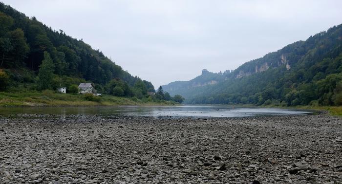 siccità germania fiume elba