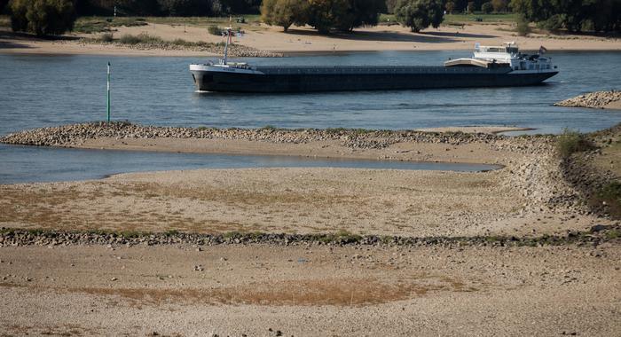 siccità germania fiume reno