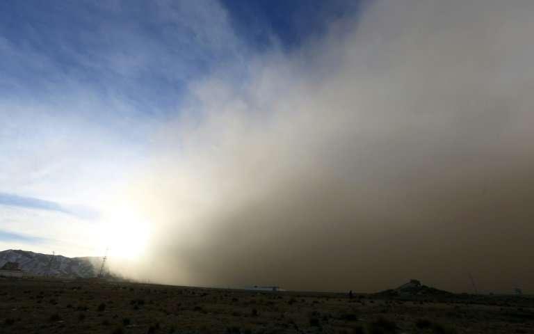 tempesta di sabbia cina