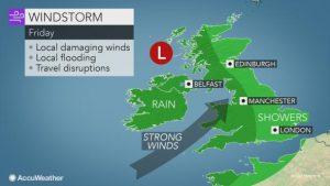 tempesta di vento regno unito 9 novembre