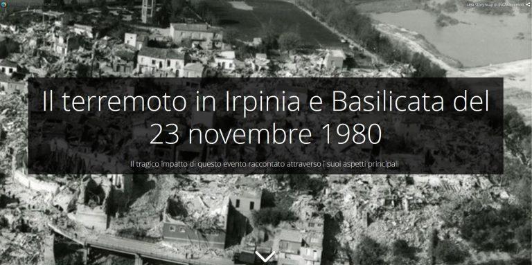 23 novembre 1980, ore 19:34. La story map del terremoto che sconvolse l'Irpinia e la Basilicata