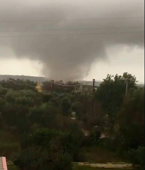 tornado salento Casarano e Taurisano
