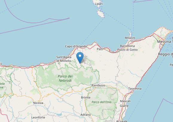 Terremoto con epicentro a Galati Mamertino (ME)