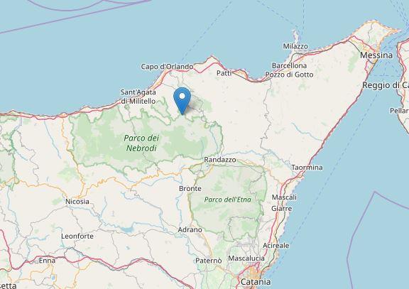 Terremoto con epicentro a Tortorici (ME)