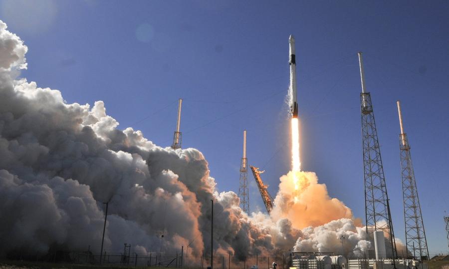 lancio spacex iss