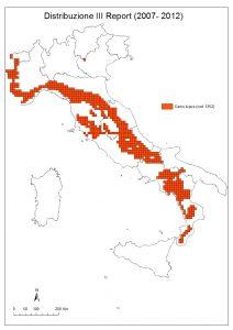 mappa distribuzione lupo