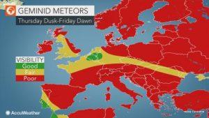 previsioni meteo europa geminidi