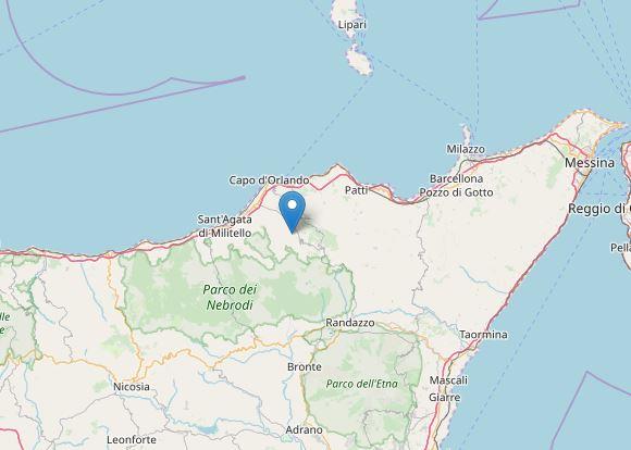Terremoto con epicentro a San Salvatore di Fitalia (ME)