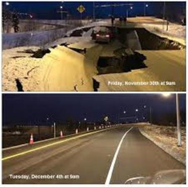 terremoto alaska ricostruzione