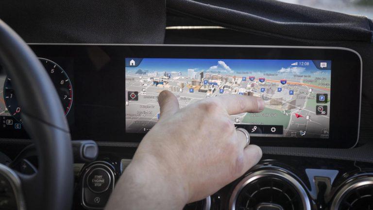 Sistema multimediale MBUX installato su Classe A