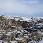 Freddo e neve in Basilicata, imbiancati i Sassi di Matera [GALLERY]