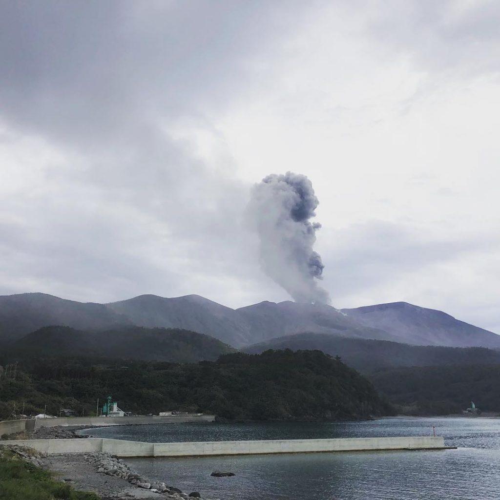eruzione vulcano Shindake giappone