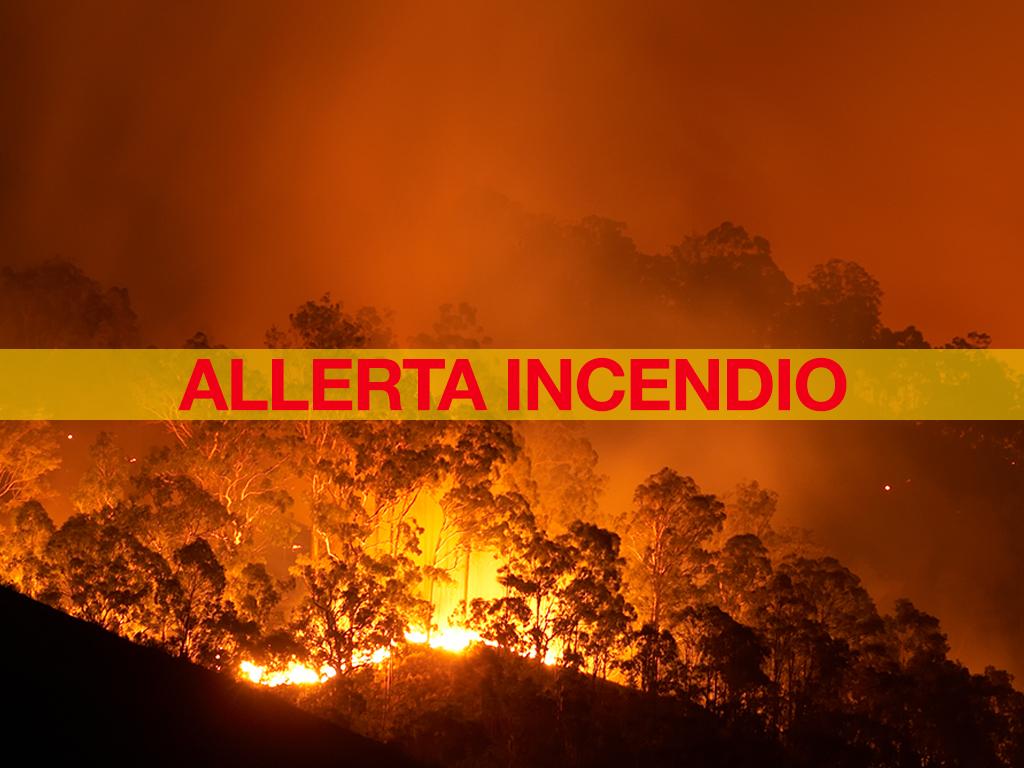 allerta incendi boschi