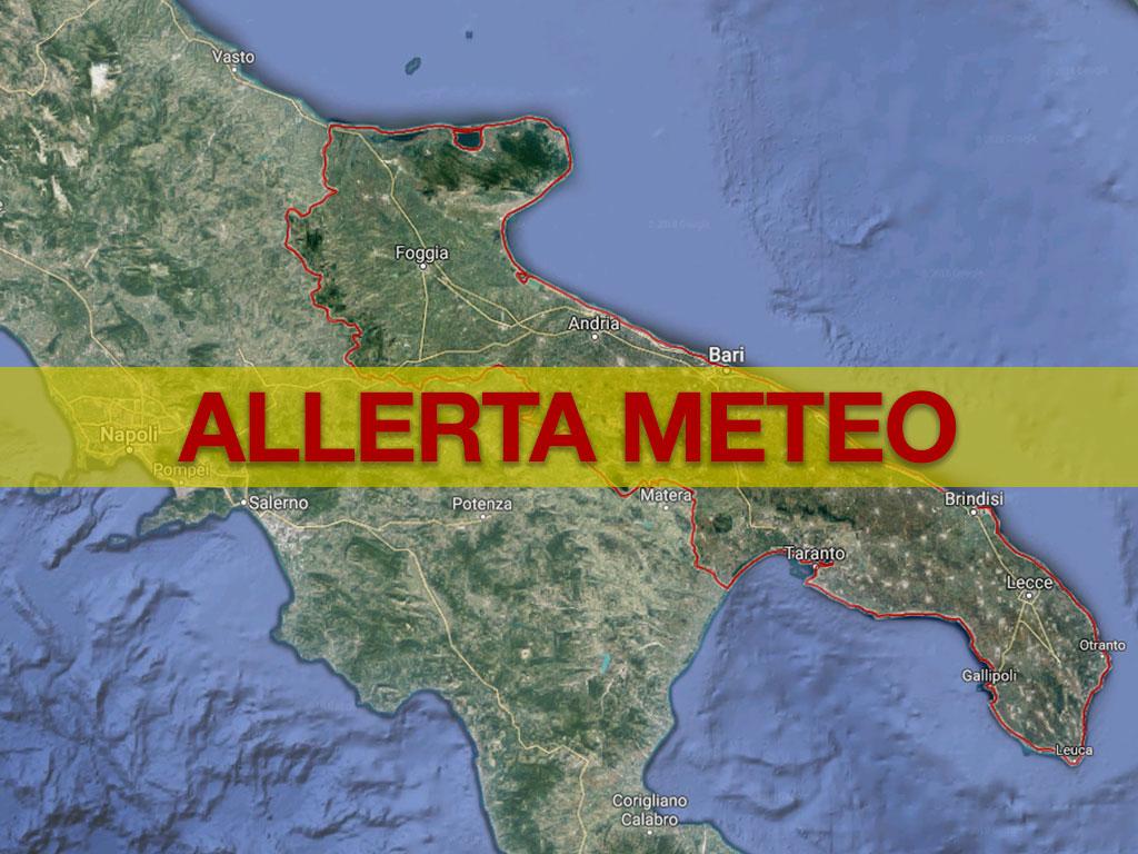 Allerta Meteo Puglia Codice Arancione In Salento E Nel Tarantino Previsti Temporali Con Conseguente Rischio Idrogeologico Meteoweb