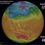 Russia a quasi -60°C, Australia a quasi +50°C: eccezionale differenza di temperatura tra i due estremi della Terra [DATI]