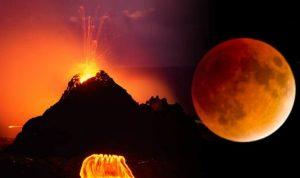 eclissi luna di sangue terremoti eruzioni