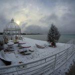 """Porto Cesareo, la neve in spiaggia e il """"sea smoke"""" sul mare: scenario siberiano nel Salento [FOTO e VIDEO]"""