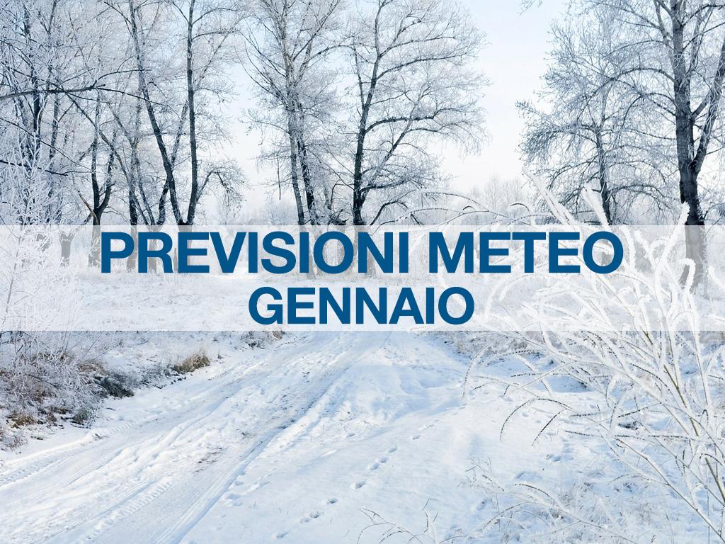 previsioni meteo gennaio