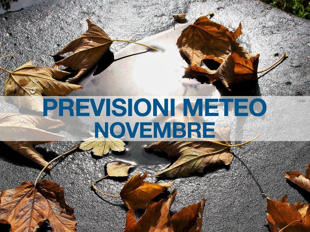 previsioni meteo novembre