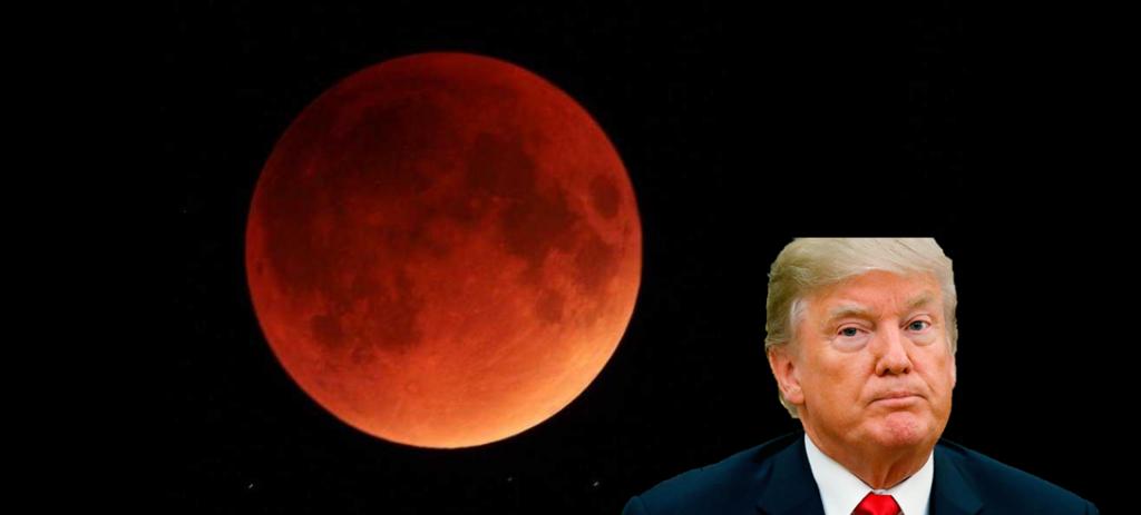 superluna di sangue trump