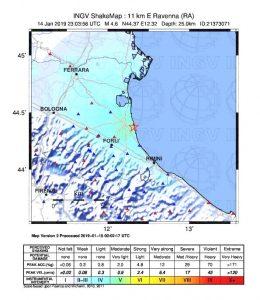 terremoto ravenna oggi