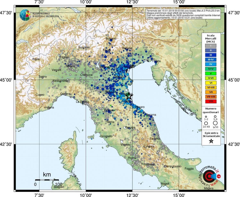 terremoto romagna ravenna oggi
