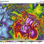Allerta Meteo, il CICLONE sullo JONIO scatena venti da uragano: raffiche di 200km/h al Sud Italia, addirittura 230km/h in Croazia [MAPPE]