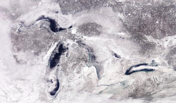 grandi laghi ghiaccio vortice polare