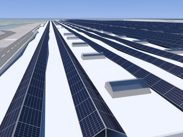 impianto fotovoltaico solare tetto Győr Audi