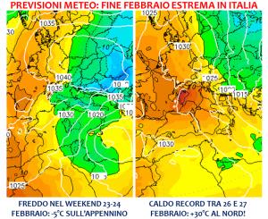 previsioni meteo fine febbraio 2019