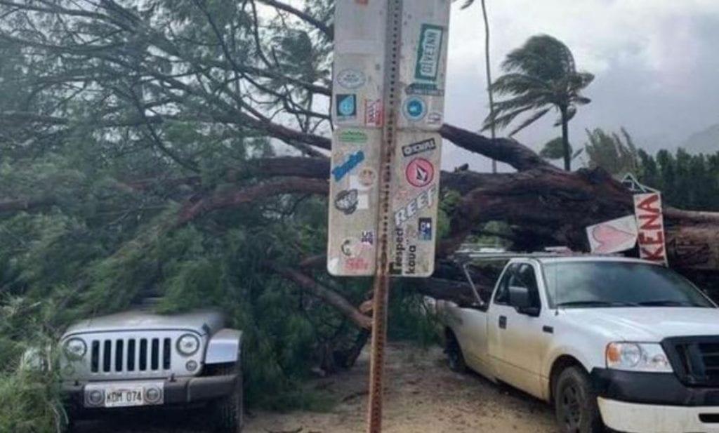 tempesta invernale hawaii