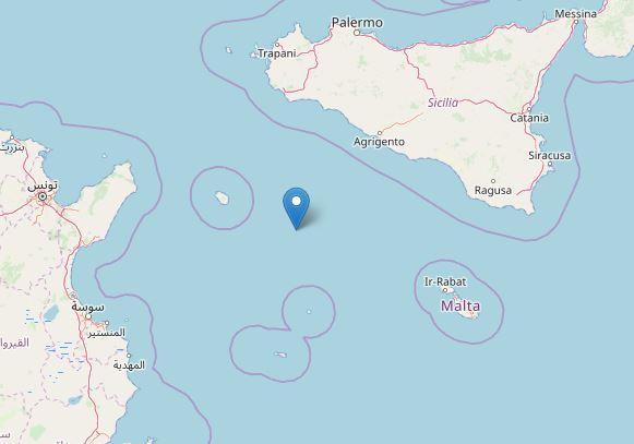 terremoto canale sicilia