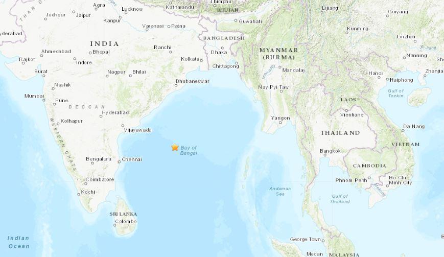 terremoto golfo dl bengala