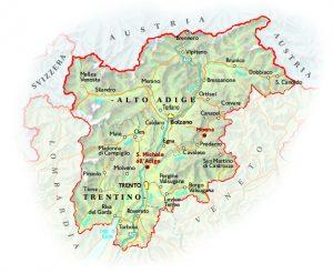 Trentino alto adige mappa