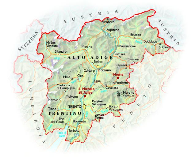 Trentino Alto Adige Cartina Geografica Fisica.Via Il Nome Alto Adige E Bufera Ecco Come Cambia