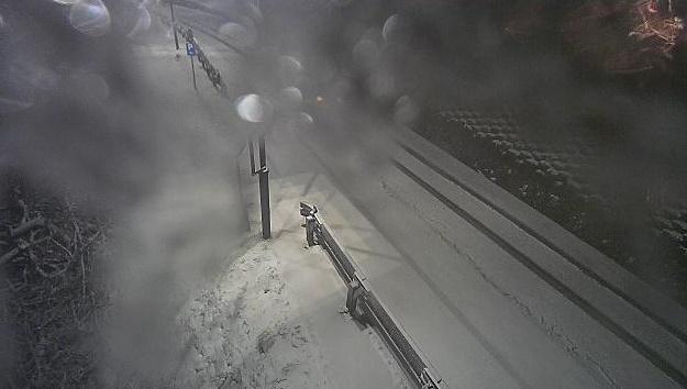 Neve a Monte di Fo' sulla SR65