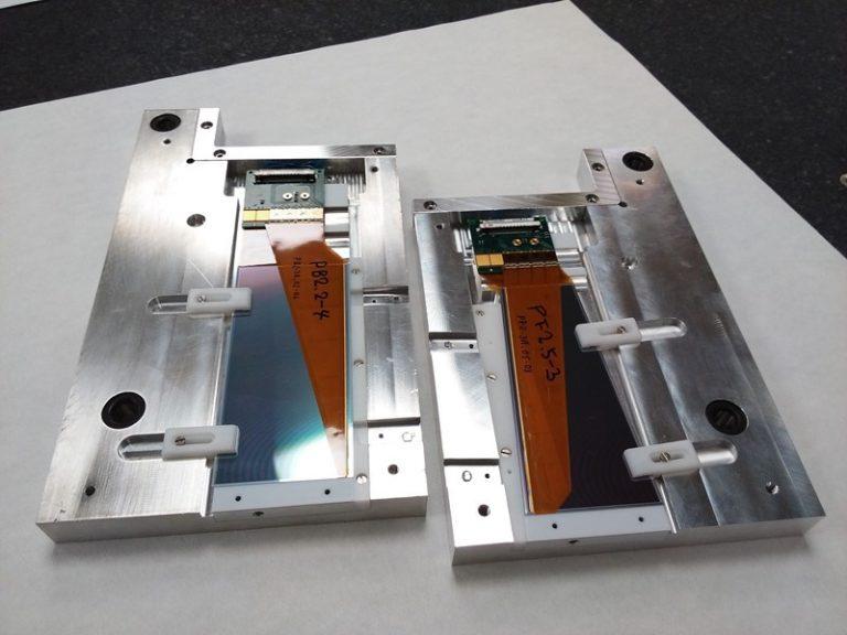 Componenti anteriori e posteriori prodotti nei laboratori INFN / Università di Pisa