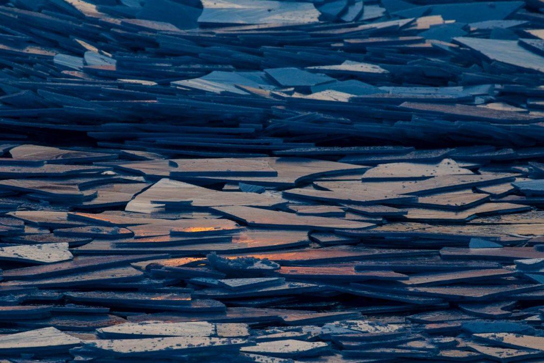 ghiaccio lago michigan