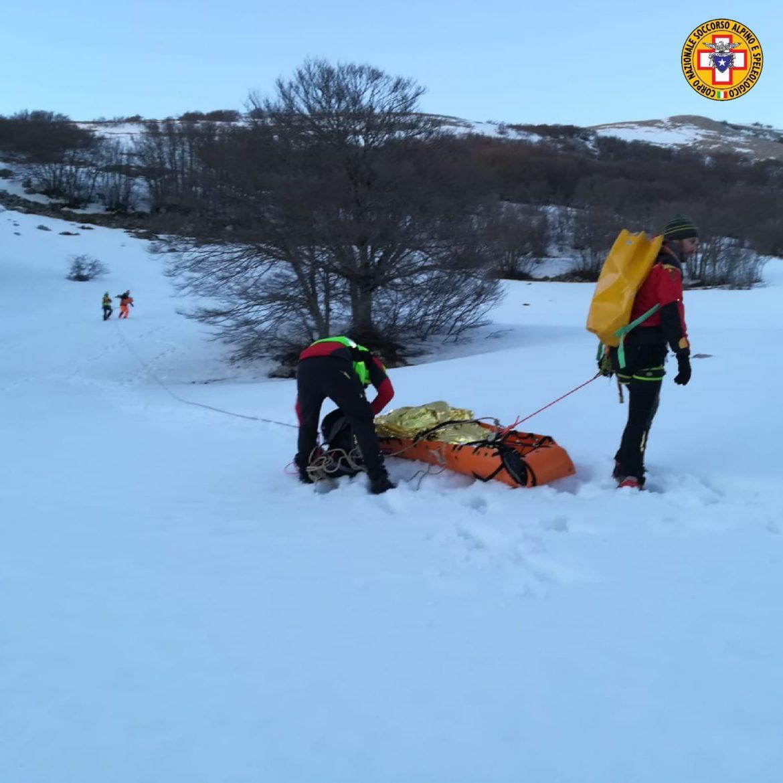 intervento soccorso alpino pizzo carbonara