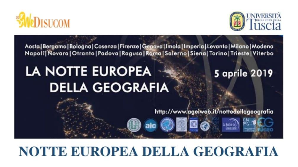 Notte europe della geografia 2019
